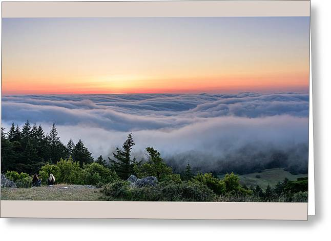 Marin County Greeting Cards - A Place to Chat Greeting Card by Dan Shehan