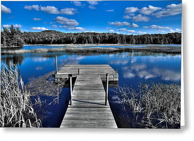 Old And New Greeting Cards - A place to Dock on the Moose Greeting Card by David Patterson