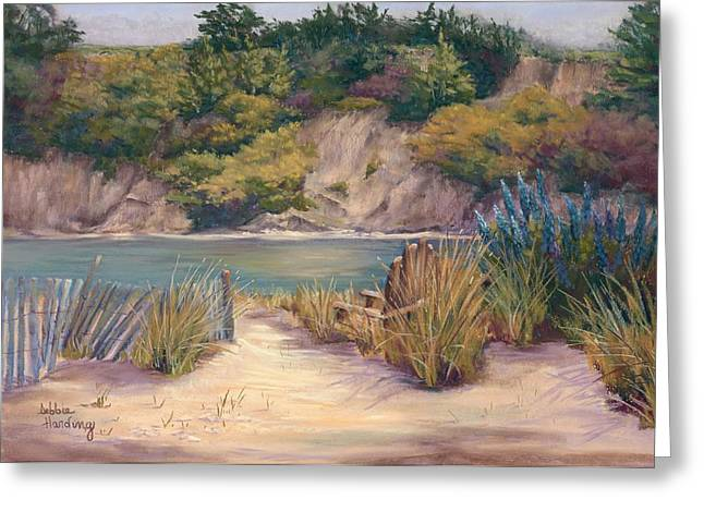 Marin County Pastels Greeting Cards - A Place to Pause Greeting Card by Debbie Harding
