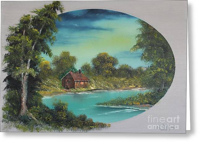 Bob Ross Paintings Greeting Cards - A Place to Reflect Greeting Card by Bob Williams