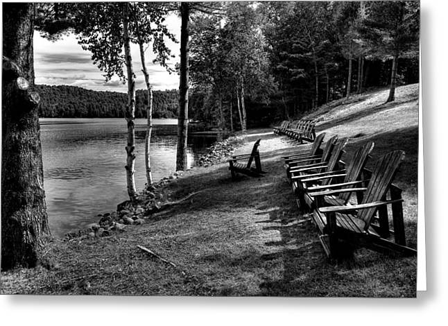 Black Lodge Photographs Greeting Cards - A Place to relax at The Woods Inn 2 Greeting Card by David Patterson