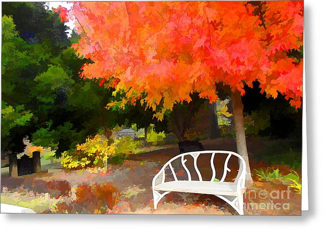 Fall Colors Greeting Cards - A place to Rest Greeting Card by Jane Spaulding