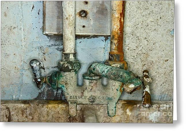 A Plumbers Nightmare Greeting Card by Paul Ward