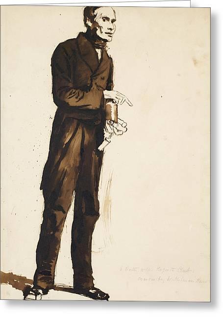 A Porter To The Hogarth Club Greeting Card by William Holman Hunt