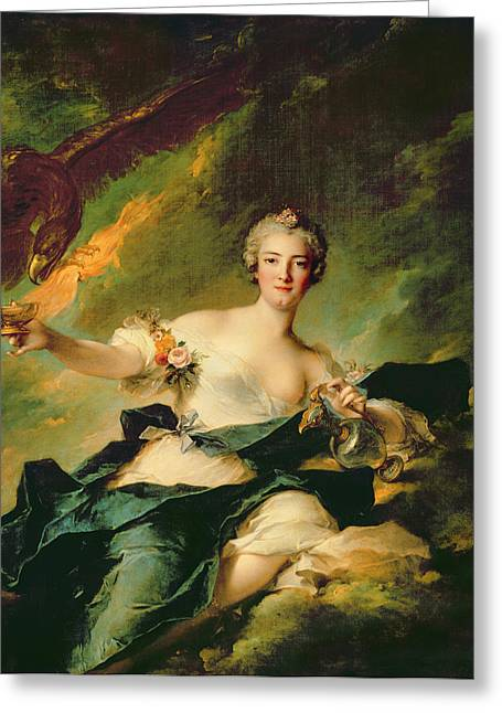 Royalty Greeting Cards - A Portrait of Anne Josephe Bonnnier de la Mossau  Greeting Card by Jean Marc Nattier