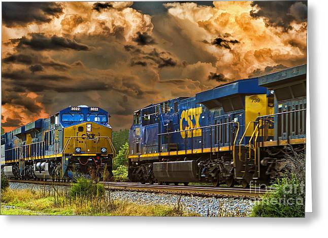 Csx Greeting Cards - A Power Meeting Greeting Card by Tim Wilson