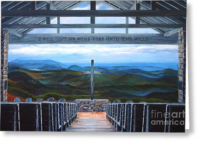 Andrew Wells Greeting Cards - A Pretty Place Greeting Card by Andrew Wells