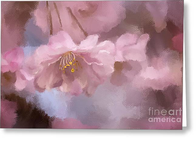 Weeping Digital Greeting Cards - A Profusion Of Playful Pinks Greeting Card by Lois Bryan