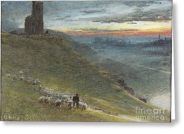 Prospects Greeting Cards - A Prospect of Edinburgh from the East Greeting Card by MotionAge Designs