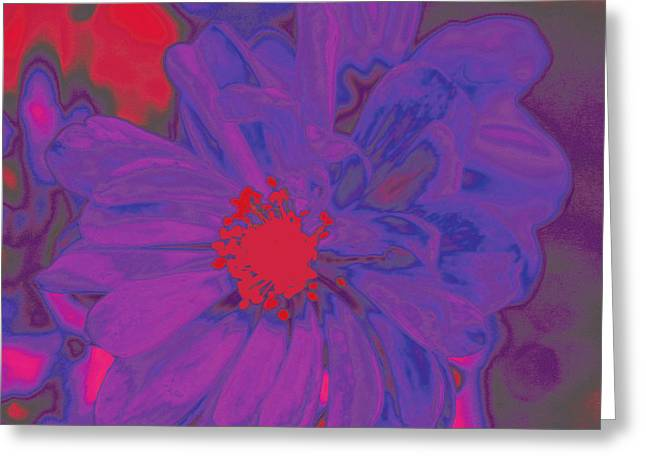 80s Greeting Cards - A Purple Poppy If You Please Greeting Card by Emily Enz