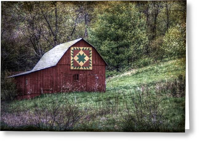 Delectable Greeting Cards - A Quilt Barn Greeting Card by Christine Annas