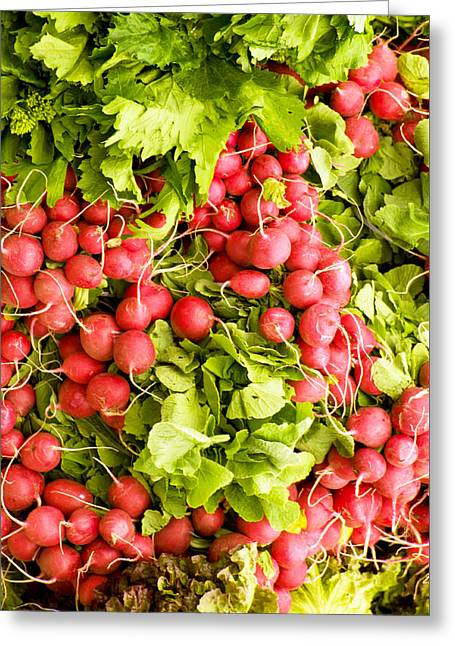 Commercial Photography Greeting Cards - A Radish Convention Greeting Card by Dave Byrne