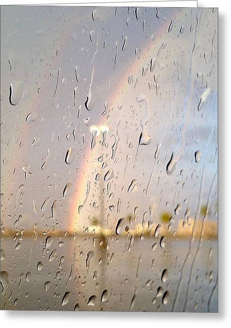 A Summer Evening Landscape Greeting Cards - A Rainbow in My World #2 Greeting Card by Kume Bryant