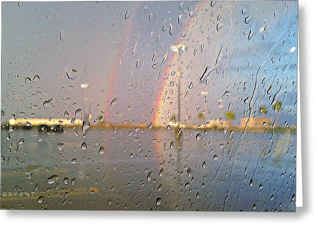 A Rainbow In My World #3 Greeting Card by Kume Bryant