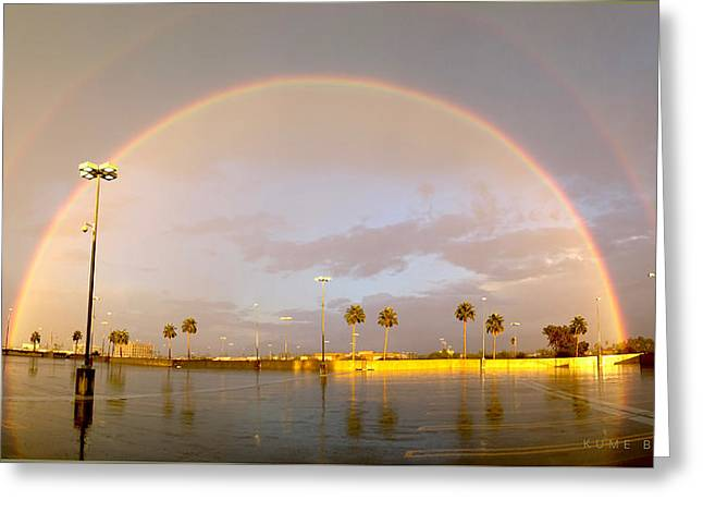 A Rainbow In My World Greeting Card by Kume Bryant