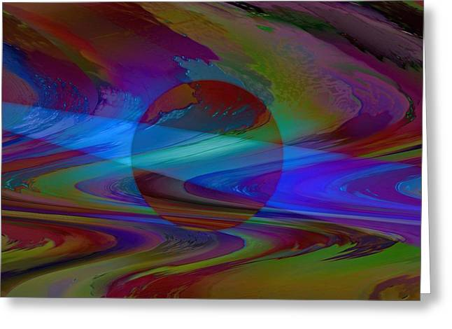 Geometric Art Greeting Cards - A Ray Of Hope Greeting Card by Kathy Franklin