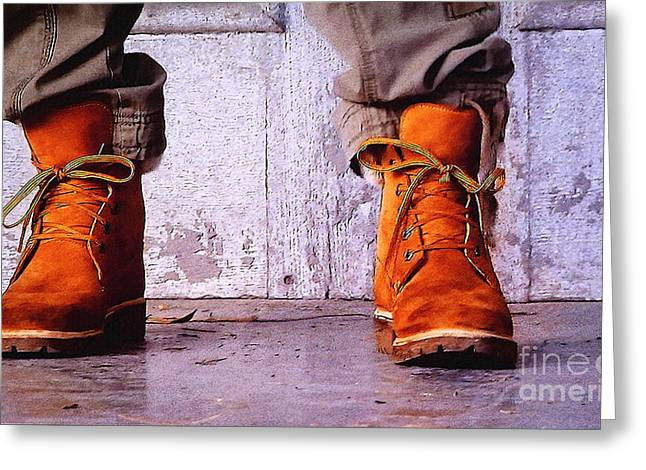 Boots Digital Greeting Cards - A Real Man Greeting Card by Jutta Maria Pusl