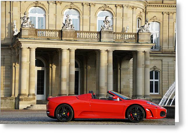 Pleasure Driving Greeting Cards - A red sports car from Maranello  Greeting Card by Yven Dienst