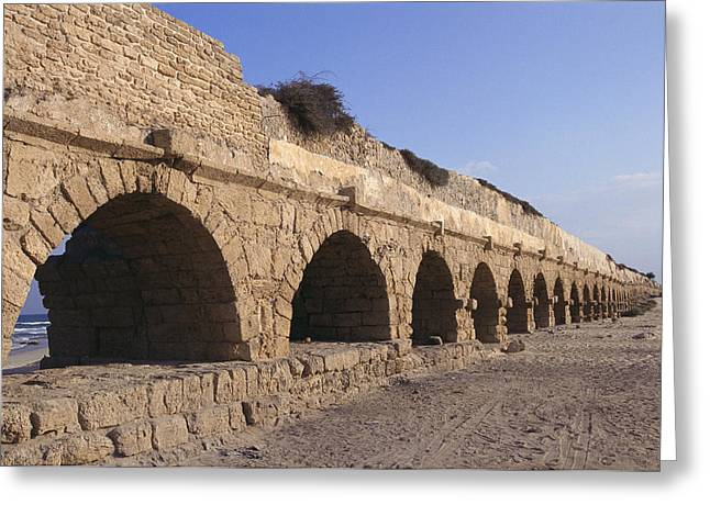 A Relatively Intact Roman Aqueduct Greeting Card by Nick Caloyianis