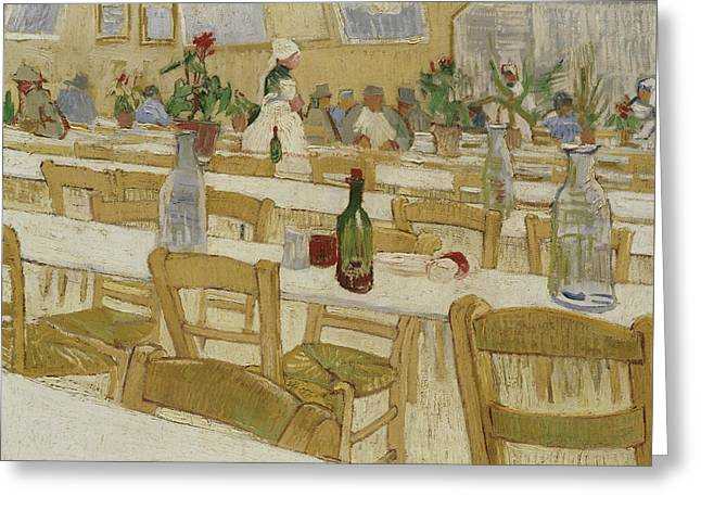 A Restaurant Interior Greeting Card by Vincent Van Gogh