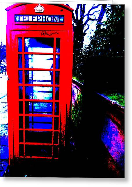 Boat Cruise Greeting Cards - A retired British classic - The Red Phonebox Greeting Card by Colin Perkins