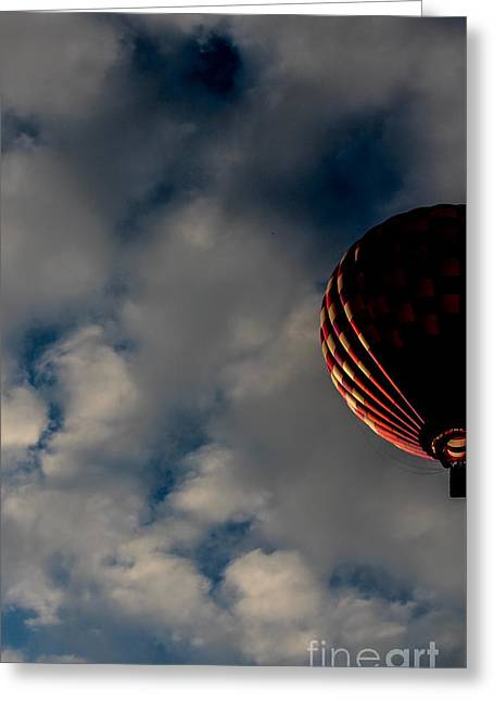 Vacationland Greeting Cards - A Rise Above the Clouds Greeting Card by Victory  Designs