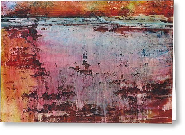 Violet Art Mixed Media Greeting Cards - A River of Colors Greeting Card by Louise Lamirande