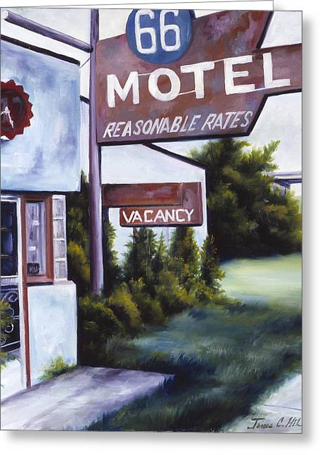 Run Down Paintings Greeting Cards - A Road Less Traveled Greeting Card by James Christopher Hill