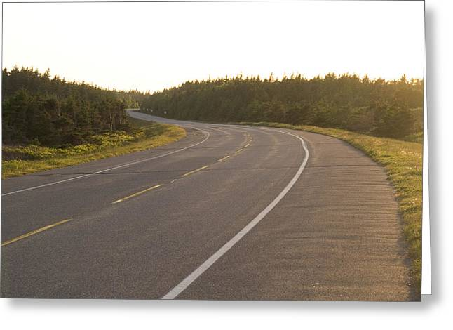Prince Of Peace Greeting Cards - A Road Meanders And Winds Greeting Card by Taylor S. Kennedy
