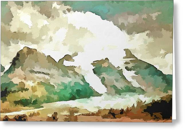 Mario Carini Paintings Greeting Cards - A Rocky Moment Greeting Card by Mario Carini