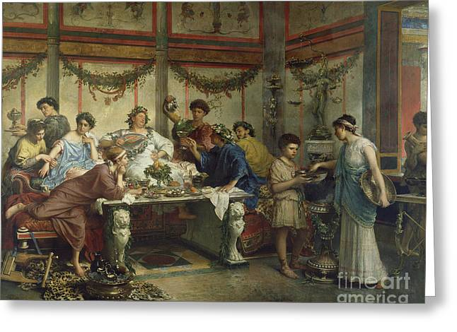 A Roman Feast Greeting Card by Celestial Images