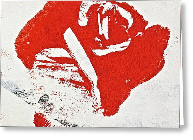 Abstract Expressionist Greeting Cards - A Rose By Any Other Name Is This Greeting Card by Cliff Spohn