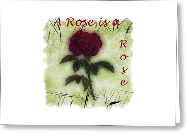 Short Sleeves Greeting Cards - A Rose Greeting Card by John Bailey