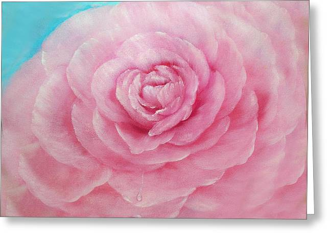 Flower Greeting Cards - A Rose of Pink Greeting Card by Joni  M McPherson