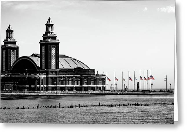 A Sad Day At Navy Pier Greeting Card by William Doree