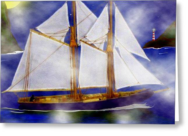 Print Card Digital Greeting Cards - A Sailors Dream Greeting Card by Madeline  Allen - SmudgeArt