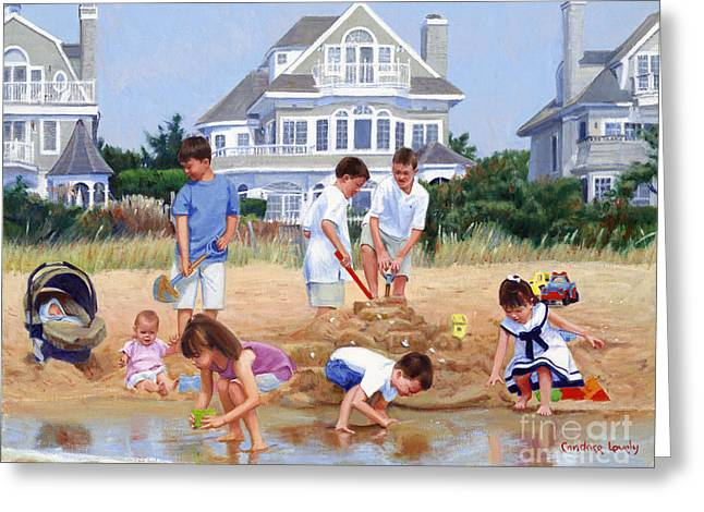 Dress Greeting Cards - A Sand Castle for Nana Greeting Card by Candace Lovely