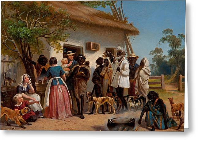 A Scene In South Australia Greeting Card by Alexander Schramm