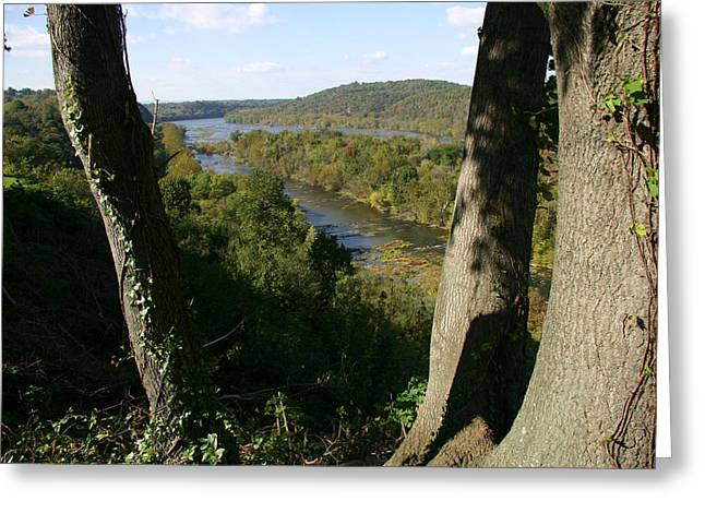 Harpers Ferry Greeting Cards - A Scenic View Of The Potomac River Greeting Card by Stephen St. John
