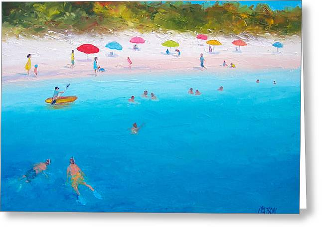 Summer Scene Greeting Cards - A scorching summer Greeting Card by Jan Matson