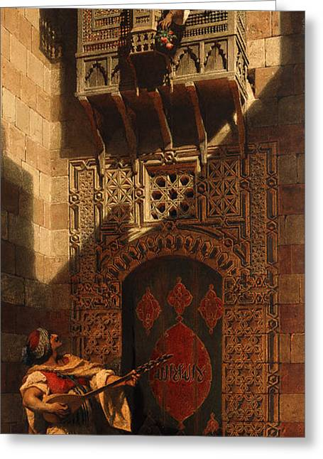 A Serenade In Cairo Greeting Card by Carl Haag