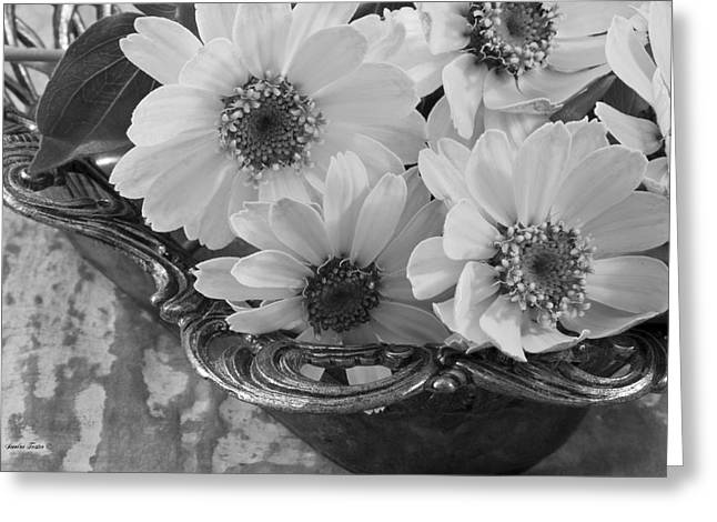Interior Still Life Greeting Cards - A Serving Of Daisies Greeting Card by Sandra Foster