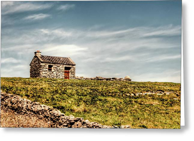 Aran Islands Greeting Cards - A Shack on the Aran Islands Greeting Card by Natasha Bishop