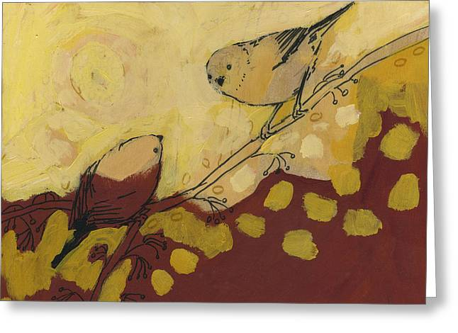 Love Bird Greeting Cards - A Short Pause Greeting Card by Jennifer Lommers