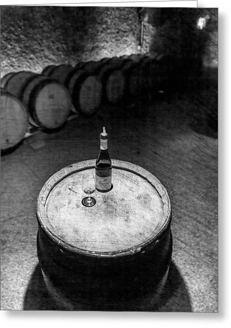 A Sip In The Cellar Greeting Card by W Chris Fooshee