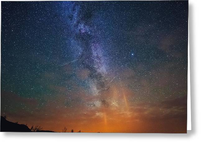 Milky Way Greeting Cards - A sky full of stars Greeting Card by Tor-Ivar Naess