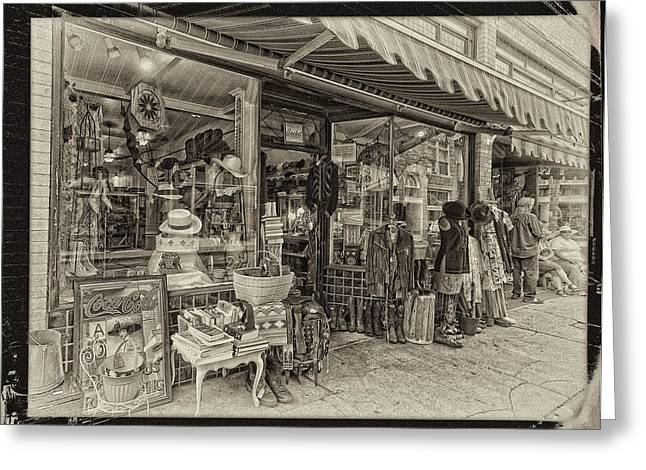 Bisbee Greeting Cards - A Slice of Life in Sepia Greeting Card by Lynn Andrews