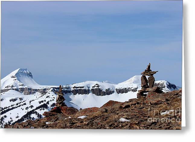 Jackson Sculptures Greeting Cards - A Snow Capped Romance Greeting Card by Bradley Bates
