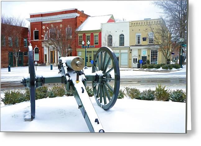 A Snowy March Day Greeting Card by Debbie Smartt