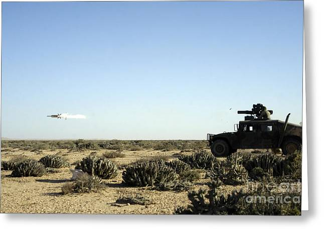 Hmmwv Greeting Cards - A Soldier Tests His Skill With The Tube Greeting Card by Stocktrek Images